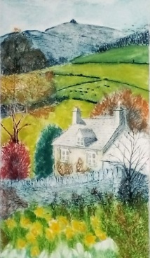 Gloucestershire March, Collagraph - Caroline Coode