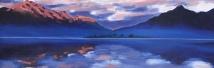 Landscape - water mixable oils on board - Sue Dibden