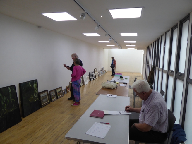 Hand-in day in the Long Gallery for the Summer Exhibition 2019