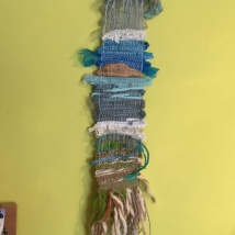 A wall hanging produced during Janis Embleton's Weaving Workshop - June 2019