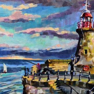 Fishing at South Shields lighthouse - Stuart Jones