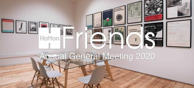 Hatton Gallery Archive space with AGM 2020 written across
