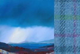 Deluge Drear with Harris Tweed swatch - Ruth Bond
