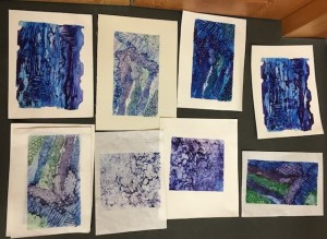 Prints by attendees of the 2020 Print Workshops