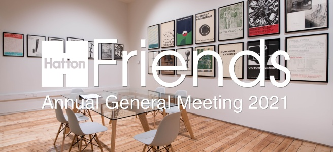Hatton Gallery Archive space with AGM 2021 written across